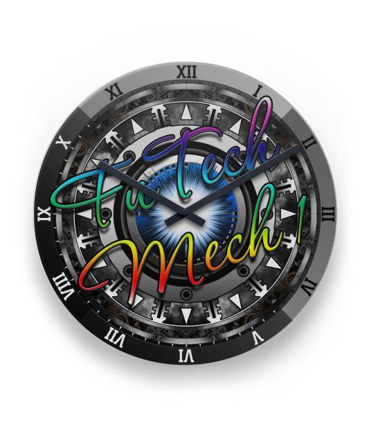 FuTech Mech 1 FTM Metal Wall Clock