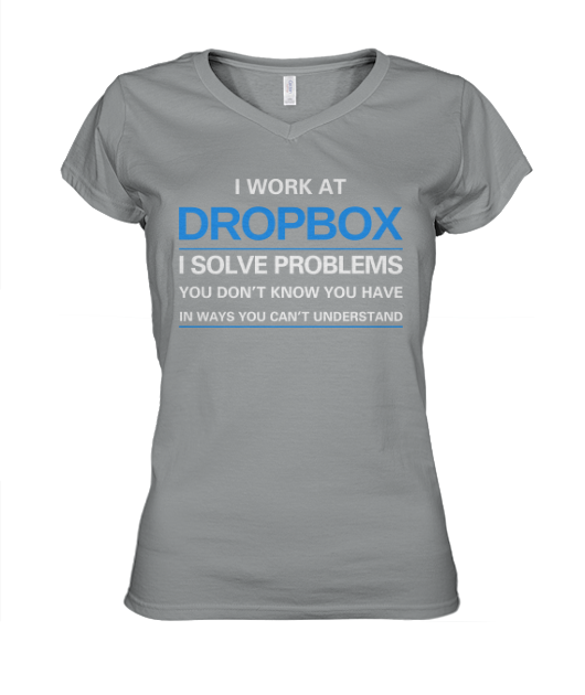 employer dropbox v-neck women