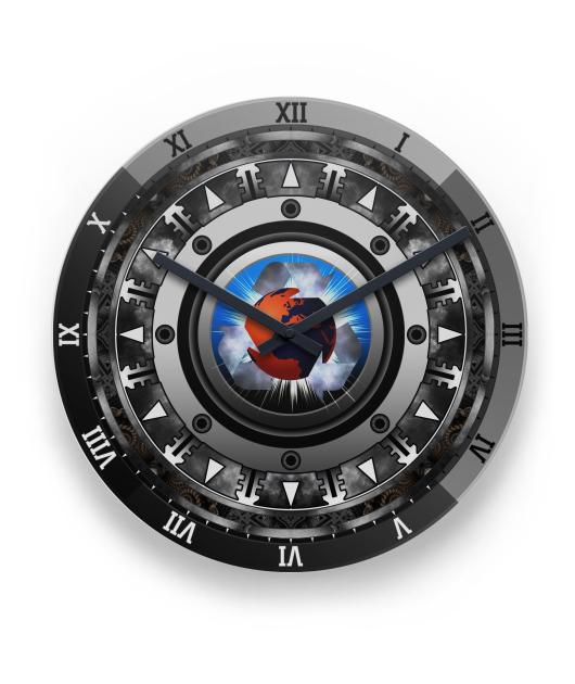 FuTech Mech 1 Metal Wall Clock