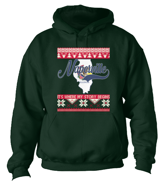 Naperville Hoodie Christmas Style