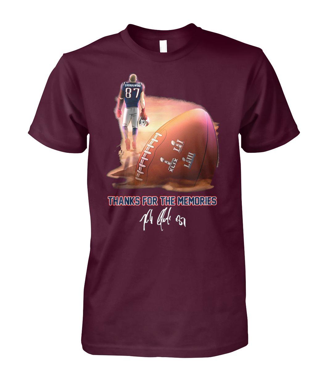 [Hot version] NFL rob gronkowski 87 thanks for the memories shirt