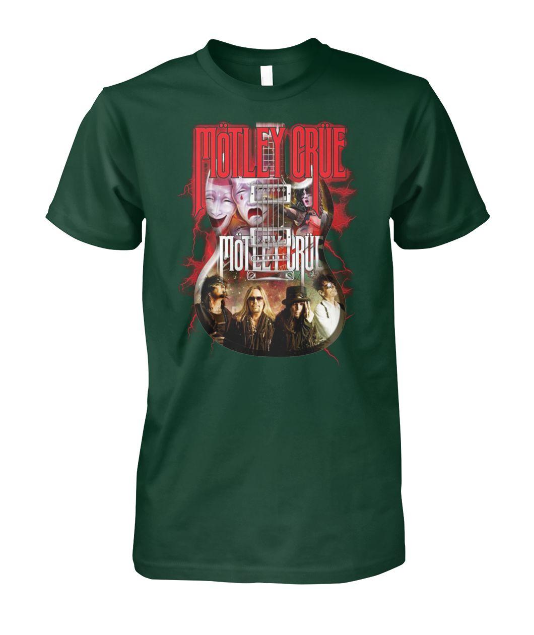 [Hot version] Motley crue guitar shirt