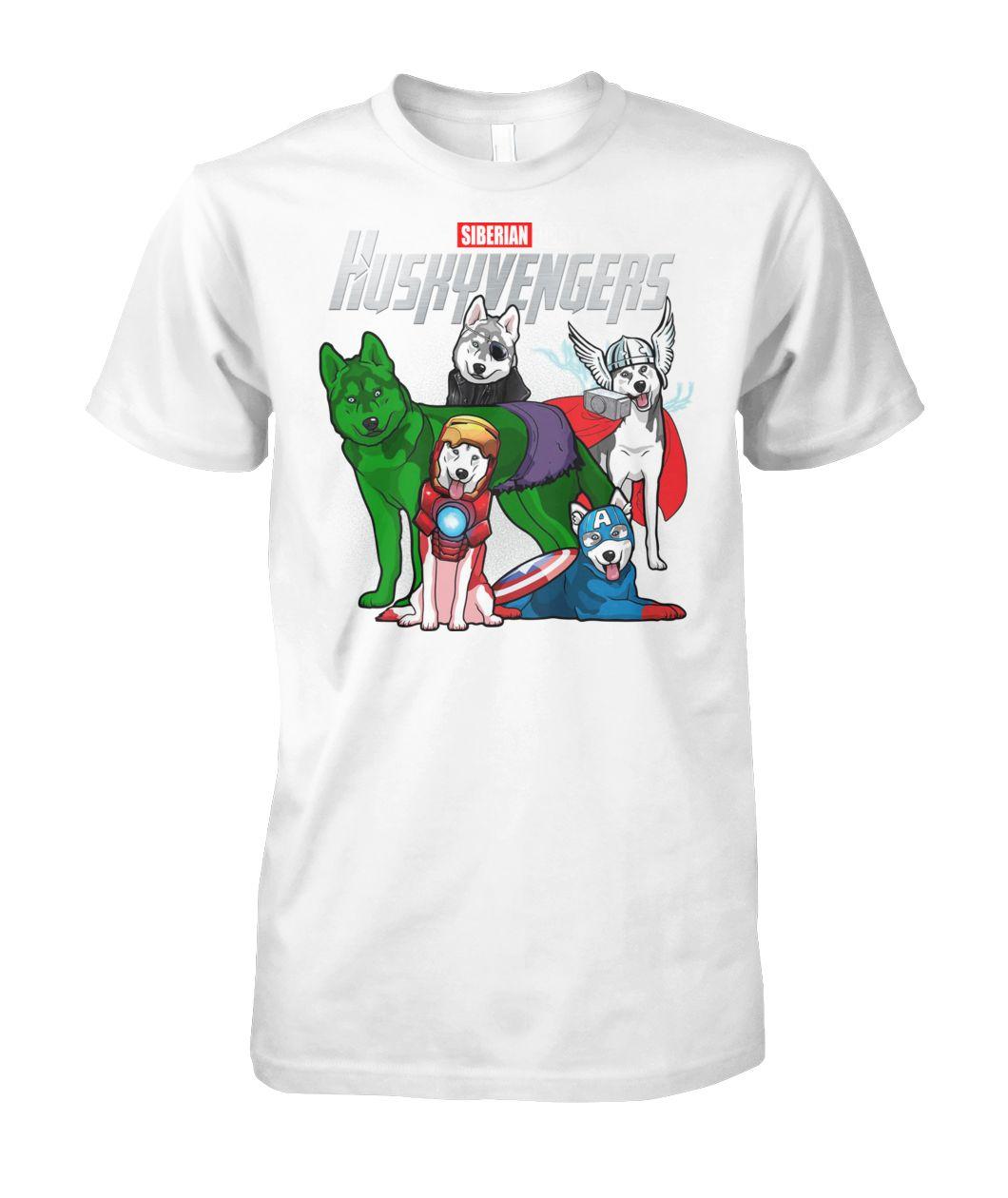 [Hot version] Marvel avengers endgame huskyvengers siberian husky shirt