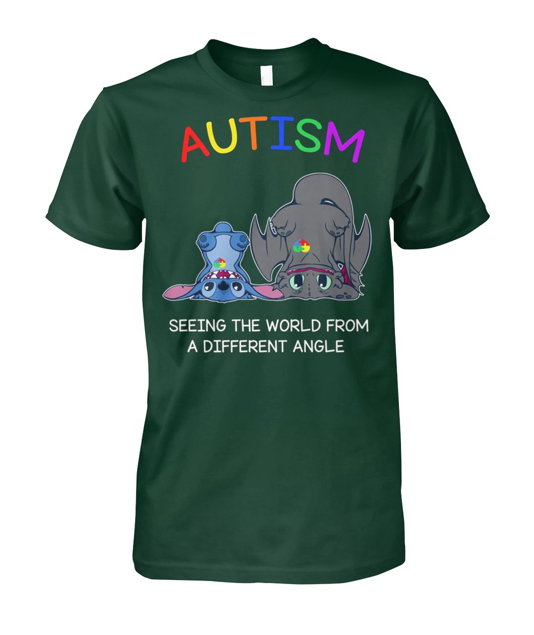 [Limited edition] Stitch and toothless autism seeing the world from a different angle shirt