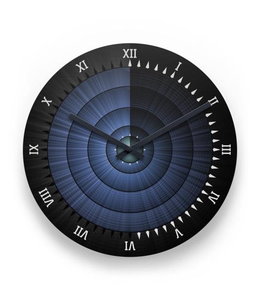 Sundial Star Burst Wall Clock