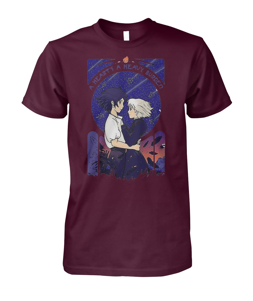 [Hot version] Howl and Sophie a heart's heavy burden shirt