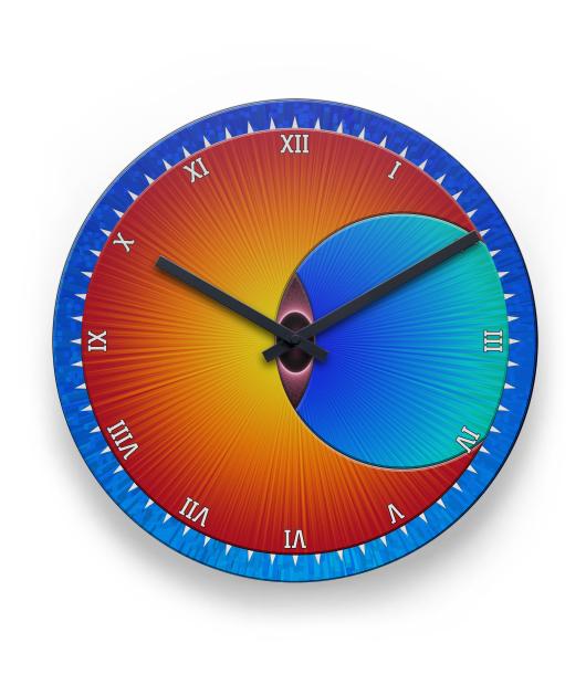 Eye Of The Sun Metal Wall Clock