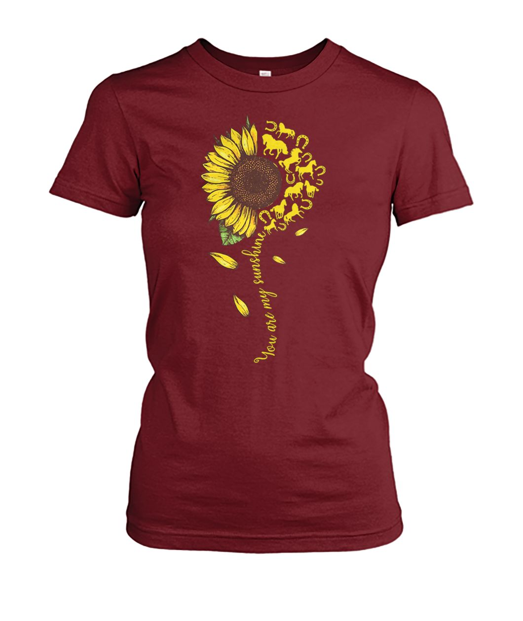 [Hot version] You are my sunshine horse sunflower shirt