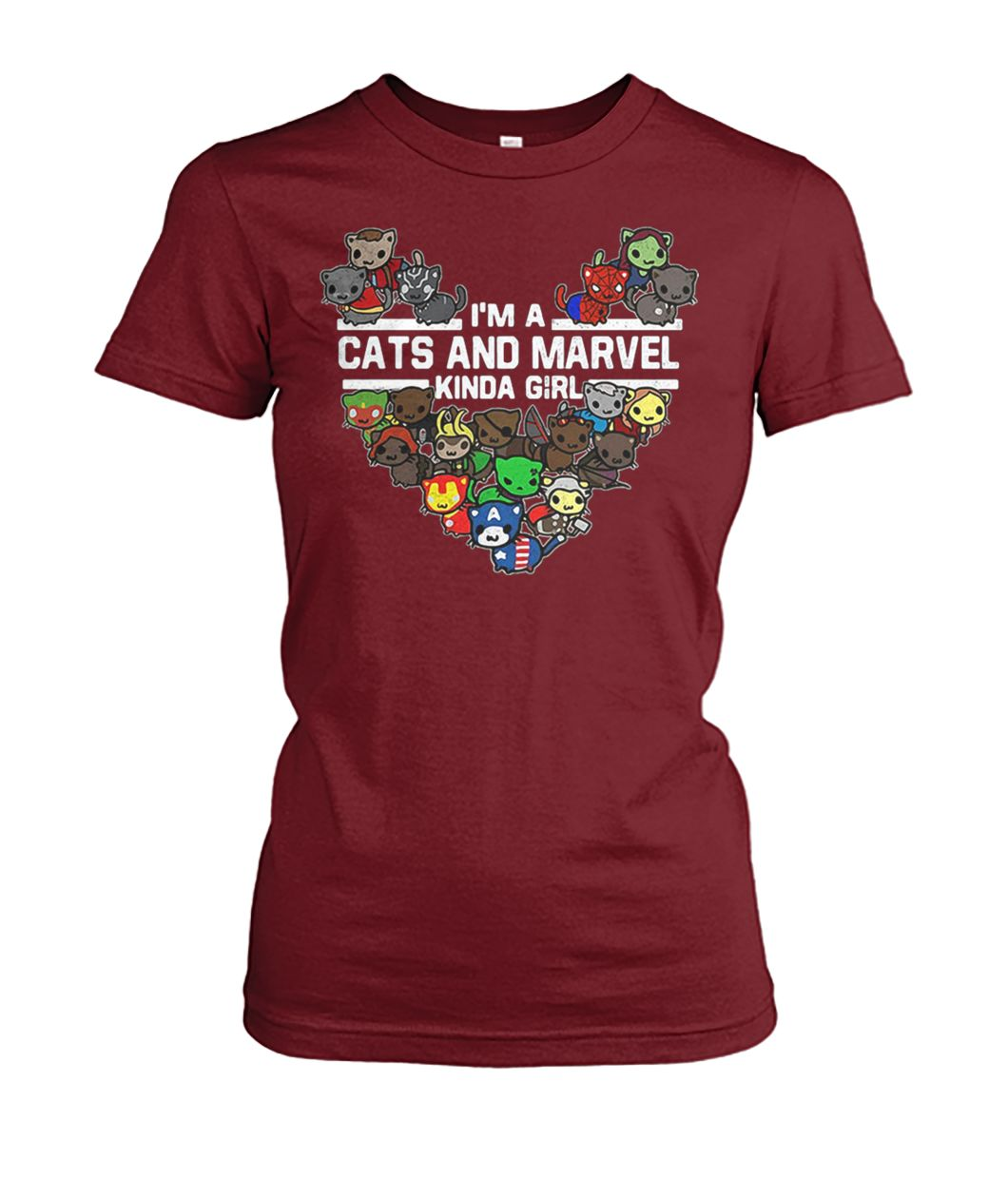 [Hot version] Marvel avengers endgame I'm a cats and Marvel kinda girl shirt