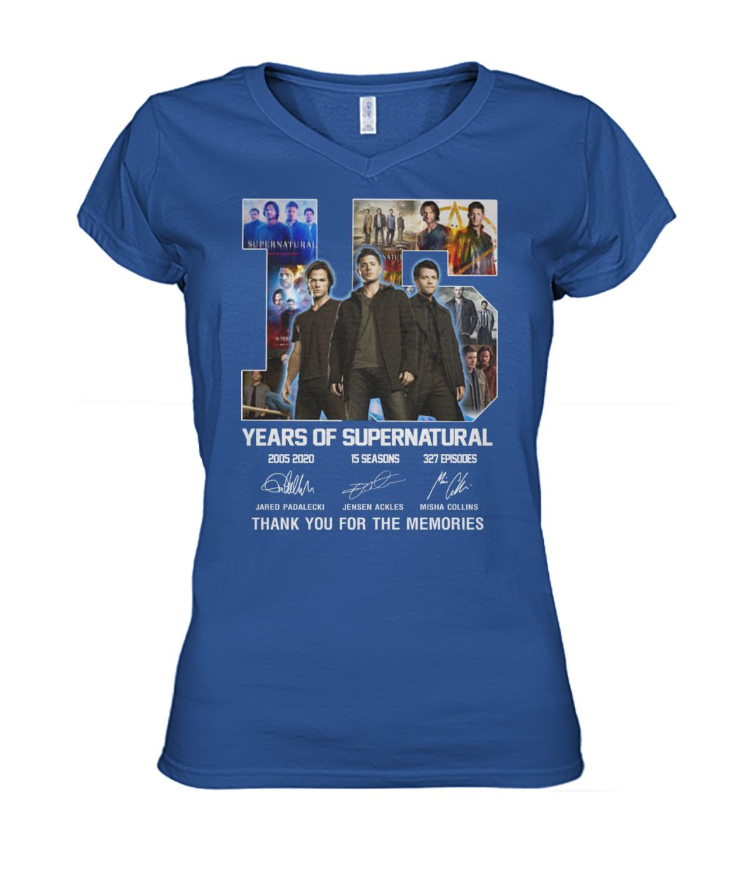 [Hot version] 15 year of supernatural thank you for the memories shirt