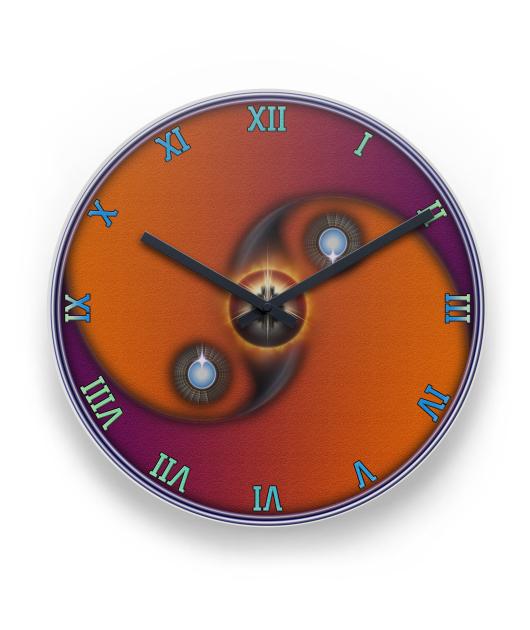 Yin Yang Sun Sandstone RO Wall Clock