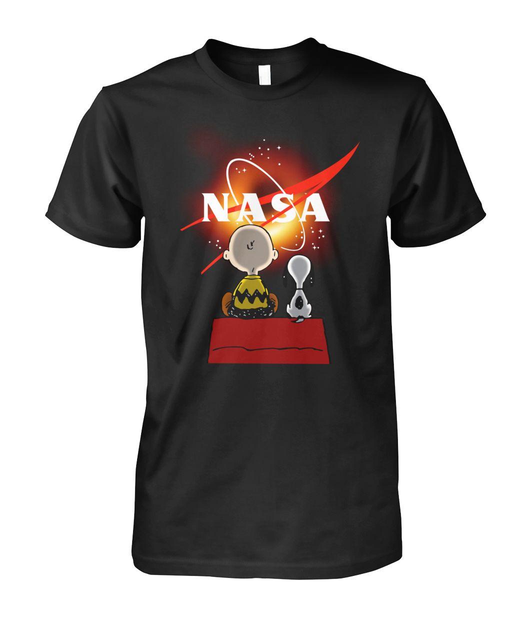 [Hot version] Snoopy and charlie brown black hole NASA shirt