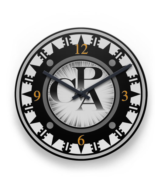 Modern Look CPA Metal Wall Clock