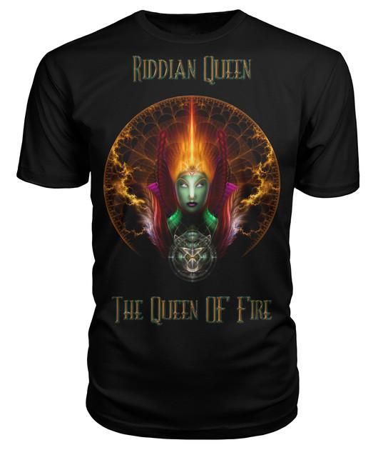Riddian Queen Of Fire Fractal Portrait TXT