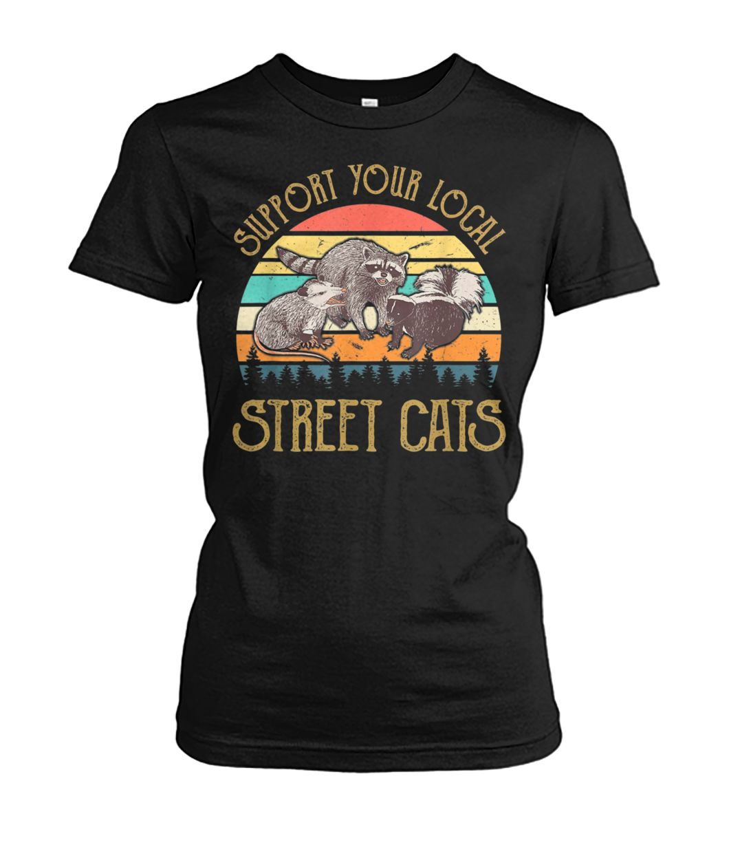 [Hot version] Vintage support your local street cats shirt