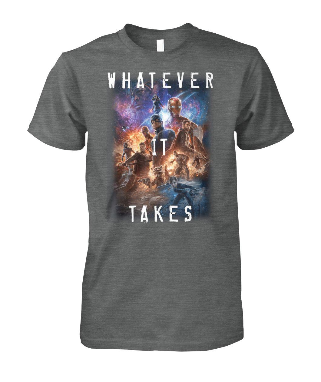 [Hot version] Marvel avengers endgame movie poster whatever it takes shirt